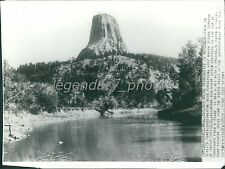 Sweetwater Wyoming Devils Tower 1941 Original News Service Photo