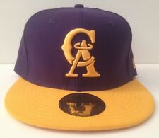 New Era 59/50 Fitted Hat - Anaheim Angels *Throwback (Purple/Gold)