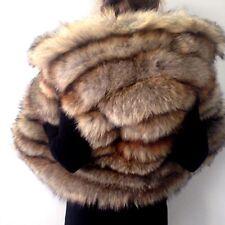 XL Spectacular real fur fox jacket coat vest hood