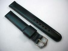 "Mens Scandia Calf Vintage Watch Band JB Campion Black 5/8"" 16mm Silver Tone Bckl"