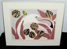 ANN T COOPER ARTIST PROOF SERIGRAPH SIGNED PINK FLAMINGOS