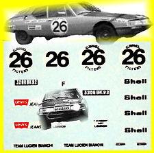 Citroen SM Maserati Spa 24 Hours 1971 de Jamblinne Bagrit #26 1:87 Decal Abziehb