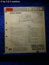 Sony Service Manual FH 205W Compact Component System (#3347)