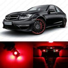 16 x Red LED Interior Light Package For 2008 -2013 Mercedes C Class W204