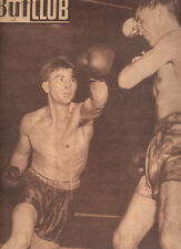 Boxe Boxing Pierre LANGLOIS BAOUR ALLAMO Jacques ROYER-CRECY French Magazine 50s