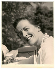 1940's-1950's photo attractive Woman at picnic showing teeth and bridge work