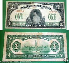"Dominion Of Canada -1917 $1 - A  series "" DC-23a "" -Princess Patricia  Banknote"
