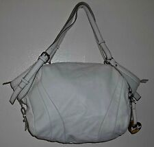 Barr +  Barr NY Large Winter White Genuine Leather Hobo Satchel NWOT