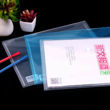 2Pcs A4 PVC Bag Plastic Document Bag Paper Office Supplies Clear File Folder Bag