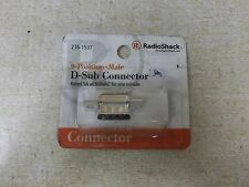 Radio Shack 9 Position Male D-Sub Connector 276-1537 *FREE SHIPPING*