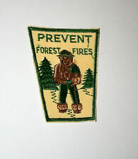 Vintage Rare 1950s Smokey The Bear Prevent Forest Fire Green Patch New NOS