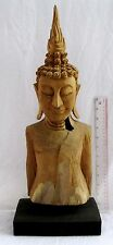 BEAUTIFULLY RESTORED Old Teak Wood Buddhist Temple Buddha Ornament Relic