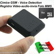 Microspia VideoCamera Cimice GSM X009 + MicroSD Attivazione Vocale Spy Spia Foto
