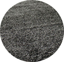5x5  Round Area  Rug  Shaggy  SHAG  Light Gray  2 inch Plus Thick & Heavy 5' NEW