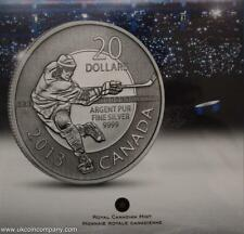 2013 Canada Uncirculated Silver $20 Coin By Royal Canadian Mint Hockey