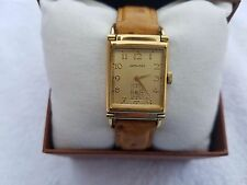 Hamilton Wilshire men's watch plaque G 20 Microns tick/18k gold electro, Vermeil