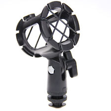 Universal Microphone Shock Mount Holder Stand Mic clip with Hot Shoe for studio