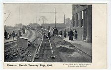 WORCESTER ELECTRIC TRAMWAY SIEGE 1903: Worcestershire postcard (C11236)