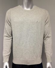 NEW Nautica Men's Solid Crew Neck Long Sleeve Sweater Gray M Medium!!!
