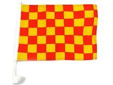 "12x18 Red Yellow Checker Checkered Race Car Vehicle 12""x18"" Flag"