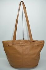 Tribecca Genuine Leather Pebbled Leather Large Weave Tote Shopper Bag