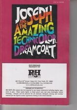 RH Theatricals Joseph And The Amazing Technicolor Dreamcoat Vocal Book EY-41