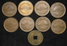 Lot of 8: Japan 10 Yen + 1 older coin