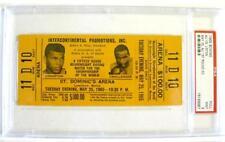 """1965 ALI vs LISTON 1st Rd KO FULL """"Phantom Punch"""" $100 Gold TICKET In PSA 9 MINT"""