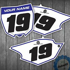 Yamaha YZ YZF 85 125 250 450 250F 450F Custom Number Plates Backgrounds Yamaha