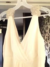 Bespoke Ivory Chiffon Embellished Wedding Dress,  Cost £1250 in 2015, Sell £100