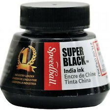 Speedball Super Black India Ink 2oz / 57ml Indian Ink