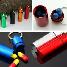 Creative Pill Box Case Bottle Cache Drug Key Chain Container Holder Aluminum
