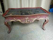 NICE ANTIQUE FRENCH CHINOISERIE COFFEE TABLE MAISON JANSEN STYLE