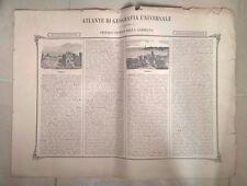 TAVOLA ATLANTE GEOGRAFICO REGNO DI SARDEGNA REPUBBLICA DI GENOVA 1865