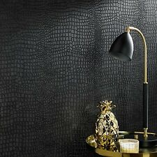 Graham Brown Vinyl Wallpaper Home Room Crocodile Skin Rolls Sheets Collection