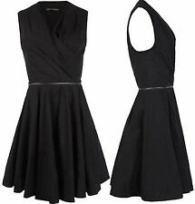 BNWOT Stunning All Saints Caden Dress Ebony UK size 8