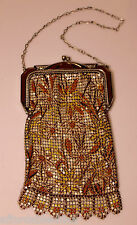 Vintage Whiting and Davis Enamel mesh purse - Excellent Condition