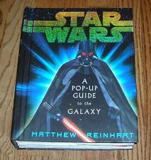 STAR WARS a POP UP GUIDE TO THE GALAXY hardcover book w/ Light up Saber COOL