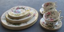 20 Pcs Set for FOUR Wedgwood Charnwood Floral, Butterfly & Bees Dinnerware Mint