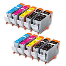10 Replacement Printer Ink Set for Canon PGI-5BK CLI-8 MP610 MP800 MP810 MX850