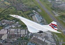 Concorde Airliner Filton Bristol Aircraft Aviation Painting Art Print