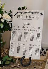 """Rustique / vintage ivoire """"Millie"""" A3 Mariage Table Pour Plan-unbacked"""