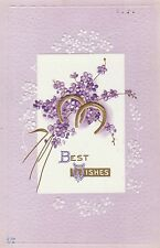 """*Family Postcard-""""Best Wishes...For A Happy New Year"""" /PM 1915/ (U1-13)"""