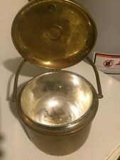 1940s Vintage Sheffield Silver Co. Copper Ice Bucket Thermos Glass Lining