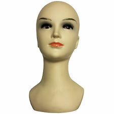 "Woman Mannequin Professional Female Head Shop Display Wigs Scarves Hats 12"" Tall"