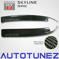 Quality Carbon Fiber Car Eyelid Eyebrow For Nissan Skyline R32 GTR GTS TU Black