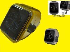 Estancos Touch-dorado & phone/reloj/Bluetooth/sim/cámara/SMS/pulsera de cuero