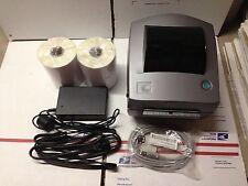 Custom Gray Zebra LP2844 Thermal Label Barcode Printer 500 Thermal Labels