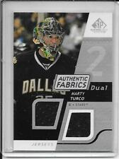 08-09 SP Game Used Marty Turco Authentic Fabrics Dual Jersey