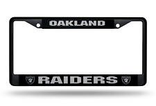 Oakland Raiders Metal BLACK CHROME License Plate Frame Auto Truck Car NFL